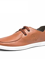 Hombre-Tacón Plano-Confort / Punta Redonda-Zapatillas de deporte-Exterior / Oficina y Trabajo / Casual-Cuero-Negro / Amarillo
