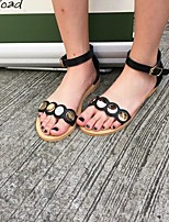 Women's Sandals Summer Sandals / Open Toe PU Outdoor Flat Heel Others Black Others