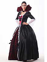 Costumes Ange et Diable Halloween / Carnaval / Fête d'Octobre Rouge / Blanc / Noir Lace / Vintage Térylène Robe / Cape