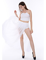 Women's Casual/Daily Sexy / Simple Summer / Fall Set SkirtSolid Split Bandage Mesh Halter Sleeveless