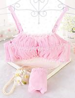 Demi-cup Bras & Panties Sets,Double Strap / Lace Bras Cotton