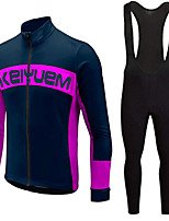 KEIYUEM®Spring/Summer/Autumn Long Sleeve Cycling Jersey+long Bib Tights Ropa Ciclismo Cycling Clothing Suits #L71