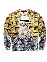 3D Hoodie Printing Animal Cat Clothing Long Sleeve  Cosplay Costumes Geeky Clothing Round Halloween Costume Makeup