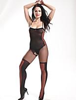 Ultra Sexy Vêtement de nuit Femme,Sexy Imprimé-Mince Nylon Noir Aux femmes