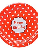 Birthday Party Tableware-10Piece/Set Paper Plates Tag 100% virgin pulp Classic Theme 2