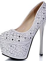 Women's Heels Spring / Summer/Fall/Winter Heels Glitter Party & Evening / Casual Stiletto Heel Glitter Black/Silver