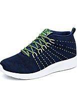 Синий / Серый-Мужской-На каждый день-Ткань-На плоской подошве-Удобная обувь-Кеды