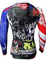 Sportivo Bicicletta/Ciclismo Top Per uomo Maniche lunghe Traspirante / Resistente ai raggi UV Coolmax Cartoni animati BluS / M / L / XL /