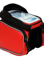 Bolsa para Bagageiro de Bicicleta / Bolsa de Ciclismo Multifuncional Viajar / Ciclismo Nailom / Pele PU Vermelho / Preto / Prateado BATFOX