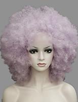 funs perruque blonde afro cirque violet de clown vient bouclés unisexe de halloween costume adulte perruque