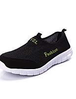 Men's Shoes Tulle Spring/Summer/Fall Comfort Sneakers Flat Heel Slip-on Black/Blue/Gray