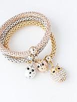 Bracelet Charm Bracelet Alloy Owl Fashion Jewelry Gift Gold / Silver,1set