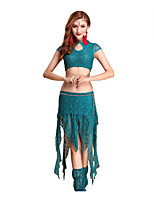 Belly Dance Outfits Women's Performance Cotton Lace 4 Pieces
