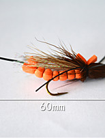 1 pcs Flies Orange 5 g/1/6 oz. Ounce,60 mm/2-1/3