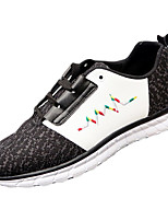Men's Sneakers Spring / Fall Comfort Tulle Casual Flat Heel Lace-up Black / Red / White Walking