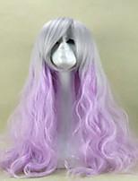 Purple Cosplay Wig Sex Products Synthetic Wig Lolita Wig  Hair Wigs 80cm Long Loose Wavy Perruque Peruca