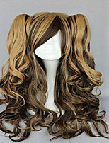 perruques costume capless synthétiques 18 pouces longs ondulés perruque cheveux ombre 3 couleurs de cosplays