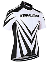 KEIYUEM Cycling Jersey/ Tops Unisex Short Sleeve/ Breathable / Quick Dry / Rain-Proof /Waterproof Zipper#K170