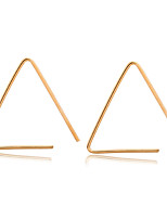 Earring Triangle Shape Jewelry Women Fashion Wedding / Party / Daily / Casual / Sports Alloy 1 pair Gold / Black / Silver