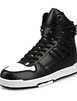 Men's Fashion Casual Shoes Middle-top Microfiber Rivet Board Flats Shoes