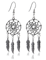 Bohemia Aretes Ethnic Style Jewellery Feather Drop Earings Vintage Long Earrings For Women Fashion Indian Jewelry