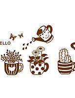 ботанический / Слова и фразы / Мода Наклейки Простые наклейки Декоративные наклейки на стены,PVC материалВлажная чистка / Съемная /