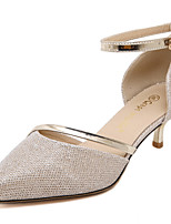 Women's Shoes Hollow Out Ankle Strap Pointed Toe Stiletoo Heel Shoes for Party/Dress/Casual Gold and Silver Available