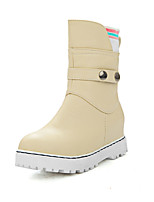 Women's Boots Spring / Fall / Winter Platform / Fashion Boots Leatherette Outdoor / Casual Platform BuckleBlack / Pink