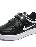 Para Niña-Tacón Plano-Confort-Zapatillas de deporte-Casual-PU-Negro / Blanco