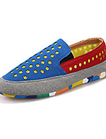 Men's Shoes Fabric Outdoor / Casual Loafers & Slip-Ons Outdoor / Casual Walking Flat Heel Slip-on