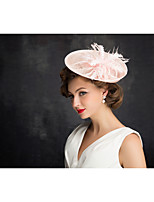 Women's Feather / Tulle / Flax / Net Headpiece-Special Occasion Fascinators 1 Piece Clear Irregular 25