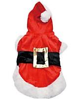 Hunde Kleider Rot Winter / Frühling/Herbst Klassisch / Weihnachten Hochzeit / Valentin / Urlaub / Modisch / Weihnachten, Dog Clothes /
