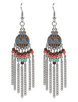 2016 Bohemian Vintage Jewelry Gold/Silver Plated Women's Beads Tassel Earrings