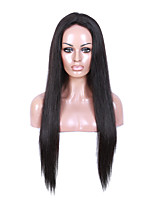 EVAWIGS 10-26'' Straight Brazilian Remy Hair Full Lace Wig Natural Black