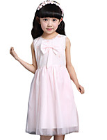 Girl's Casual/Daily Solid Dress,Others Summer Pink