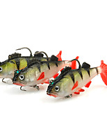 3 pc Jig Head / Shad / Jerkbaits Rosso 9 g/1/3 Oncia,65 mm/2-5/8