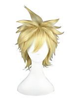 Cosplay Wigs Toaru Kagaku no Railgun Liberta Golden Short Anime Cosplay Wigs 35 CM Heat Resistant Fiber Male / Female