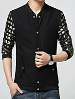 In the spring of 2016 new men's jacket youth popular Korean handsome men's wool coat stitching trend