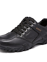 Men's Oxfords Spring / Summer / Fall / Winter Comfort Nappa Leather Office & Career / Casual Chunky Heel Black