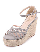 Women's Sandals Spring Sandals Leatherette Outdoor Wedge Heel Others Black / Pink / Gray Others