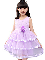 Girl's Casual/Daily Jacquard Dress,Others Summer Pink / Purple