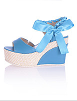 Women's Heels Summer / Fall Wedges Synthetic Dress / Casual Wedge Heel Others Blue Walking