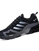 Da donna-Sneakers-Sportivo-Punta arrotondata-Piatto-Tulle / PU (Poliuretano)-Nero / Blu / Rosso / Nero e rosso