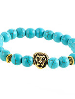 Charm Fashion Vintage Turquoise Bracelet Gold Silver Lion Head Bracelets Men Women Jewelry