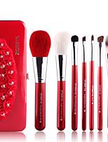 7 Brush Sets Kwast van geitenhaar Professioneel / Beugel / Draagbaar Hout Gezicht / Oog / Lip Overige