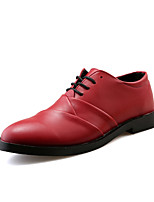 Men's Pointed Toe PU Party & Evening Flat Heel Lace-up More Color Walking EU39-43