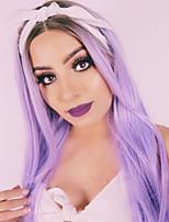 parrucca sintetica lunghi capelli lisci parrucca viola Ombre delle donne per le donne nere calore parrucca cospaly resistente