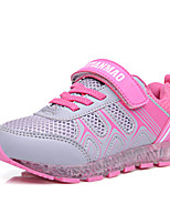 Girl's Sneakers Spring / Fall Comfort PU / Tulle Athletic Flat Heel Magic Tape / LED / Lace-up Pink Sneaker
