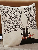 1 PC Modern Style Cotton/Linen Pillow Case 17 by 17 inch Cartoon Pattern