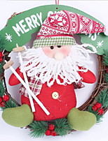 30cm Santa Claus Snowman Christmas Garland Hotel Arcade Window Decoration (Random Shape)